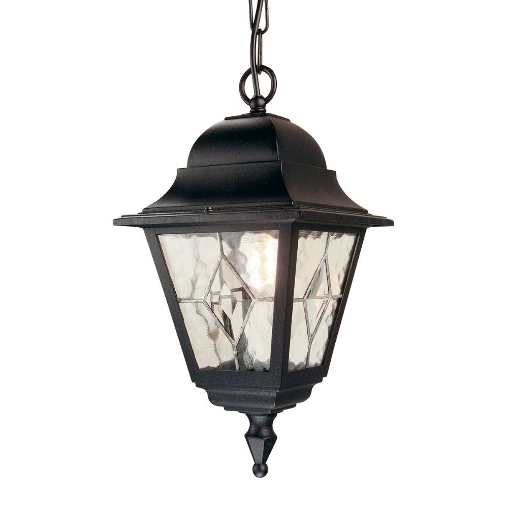 Norfolk Porch Lantern In A Black Finish Ip43 Rated